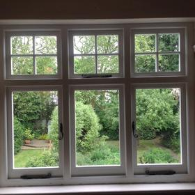 newly installed casement windows from inside