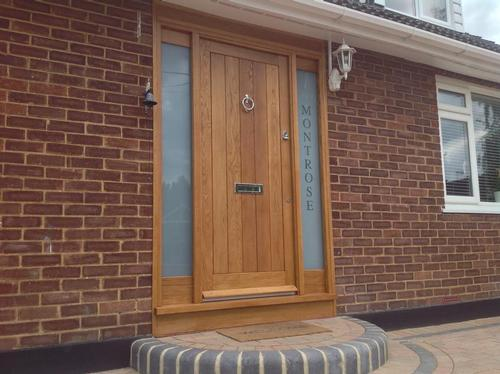 Bespoke front door installation by Brentwood Joinery in Herongate, Essex